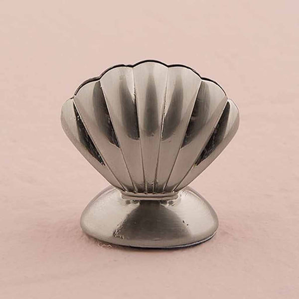 Shell Silver Place Card Holders (Pack of 8)-Place Card Holder-Here Comes The Bling™