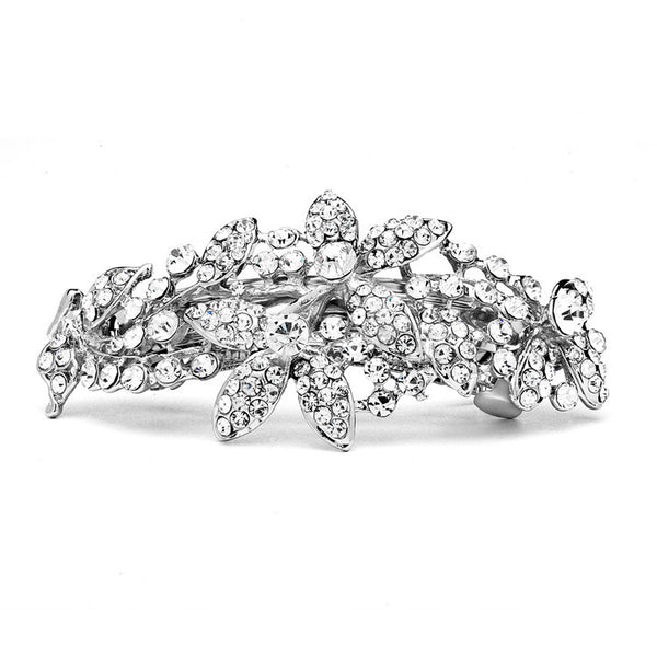Shimmering Crystal Abstract Style Bridal or Prom Hair Barrette-Clips-Here Comes The Bling™