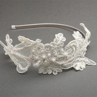 Sienna Headband (Avaliable in Ivory, White, or Champagne)-Headband-Here Comes The Bling™