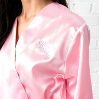 Silky Kimono Robe in Pink-Robes-Here Comes The Bling™
