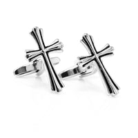 Silver Cross Cufflinks-Cufflinks-Here Comes The Bling䋢