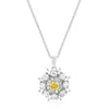 Silver CZ Circle Pendant-Necklaces-Here Comes The Bling