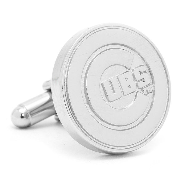 Silver Edition Cubs Cufflinks-Cufflinks-Here Comes The Bling™