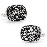 Silver Filigree Cufflinks-Cufflinks-Here Comes The Bling™