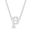 Silver Initial Pendant-Here Comes The Bling