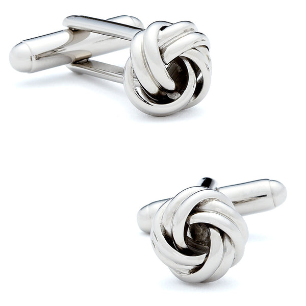 Silver Knot Cufflinks-Cufflinks-Here Comes The Bling™