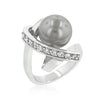 Silvertone Knotted Simulated Pearl Ring-Rings-Here Comes The Bling™
