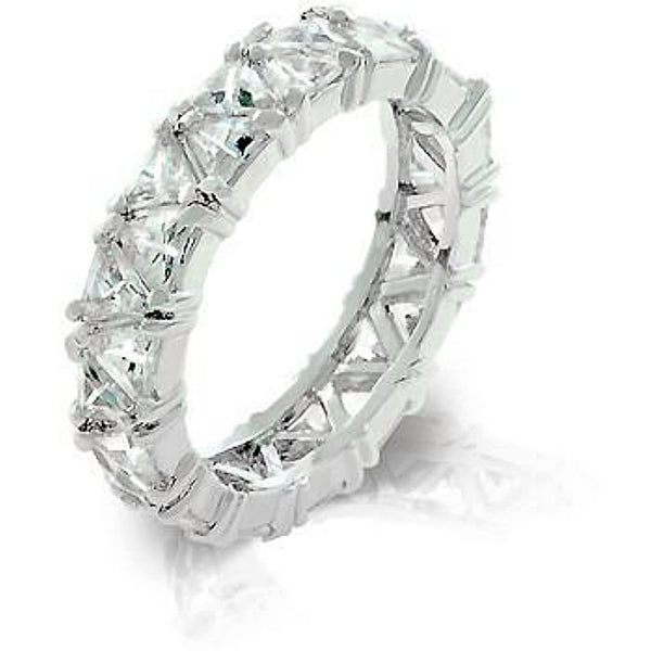 Silvertone Trillion Eternity Band-Rings-Here Comes The Bling