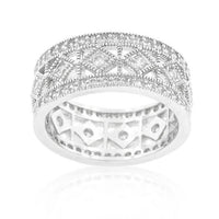 Simple Classic Cubic Zirconia Band-Rings-Here Comes The Bling™