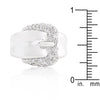 Simple Cubic Zirconia Belt Ring-Rings-Here Comes The Bling™