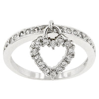 Simple Heart Charm Ring-Rings-Here Comes The Bling™