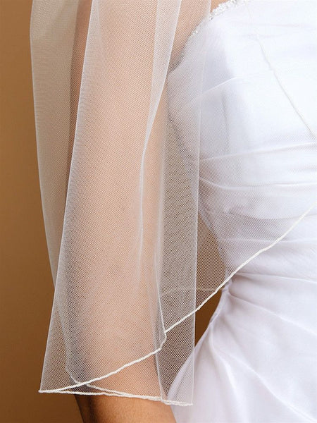 Single Layer Bridal Veils with Pencil Edging-Veils-Here Comes The Bling™