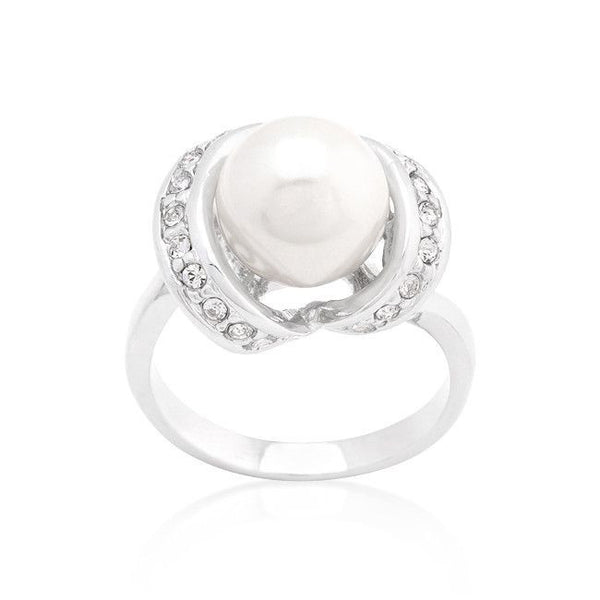 Single Pearl Cocktail Ring-Rings-Here Comes The Bling™
