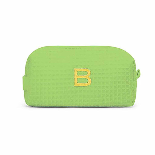 Small Cotton Waffle Cosmetic Bag in Lime Green-Pouch-Here Comes The Bling™