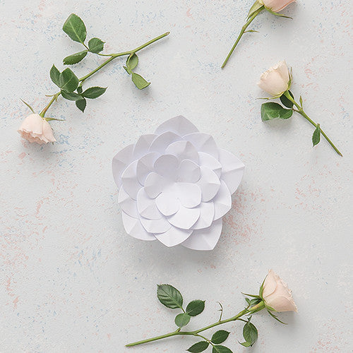Small DIY Paper Apple Blossom Décor Flower-Decor-Hanging-Here Comes The Bling™