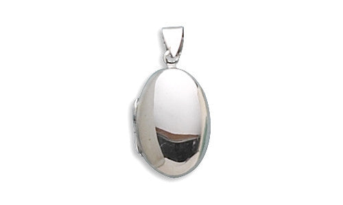Small Oval Polished Locket-Pendants & Charms-Here Comes The Bling™
