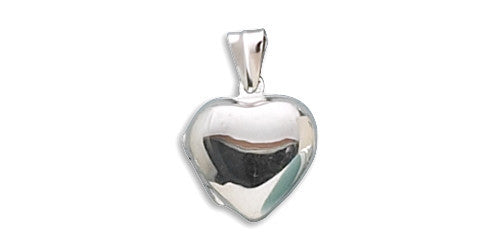 Small Polished Heart Locket-Pendants & Charms-Here Comes The Bling™