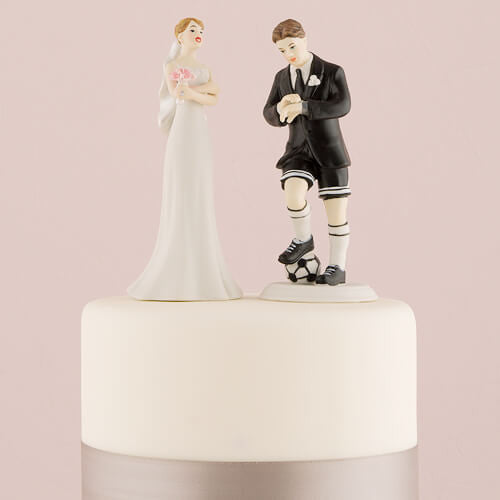 """Soccer Groom"" Wedding Cake Topper-Cake Toppers-Here Comes The Bling™"