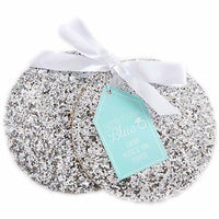 """Something Blue"" Sparkle Silver Coasters ( sold in sets of 2)-Favors-Coasters-Here Comes The Bling™"
