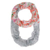 Sora Grey Floral Meadow Print Infinity Scarf-Scarf-Here Comes The Bling
