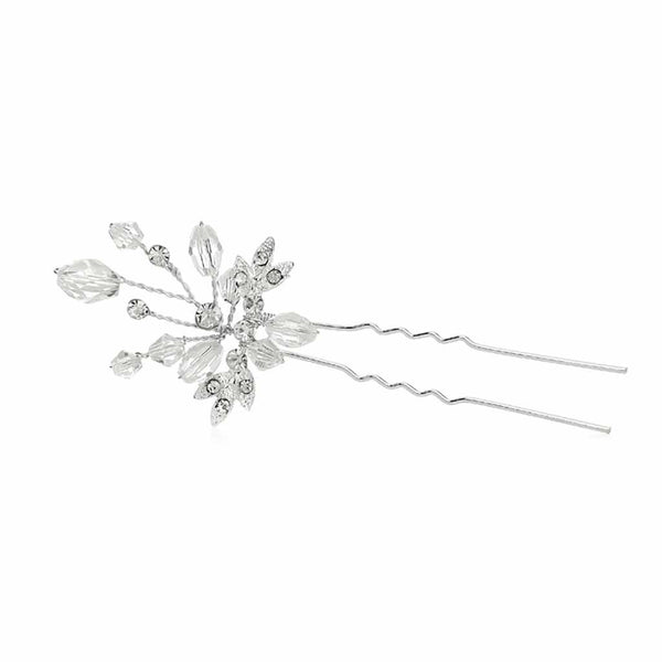 Sparkling Crystal Twigs Bridal Hair Pin-Hair Pins-Here Comes The Bling™