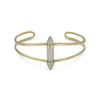 Split Cuff with Gray Moonstone Spike-Bracelets-Here Comes The Bling™