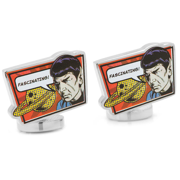 Spock Fascinating! Cufflinks-Cufflinks-Here Comes The Bling™