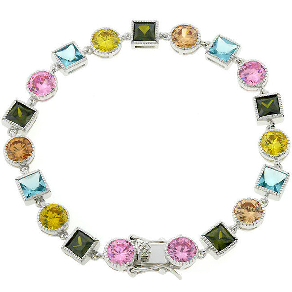Spring Fling Multi-Color Cubic Zirconia Bracelet-Bracelets-Here Comes The Bling