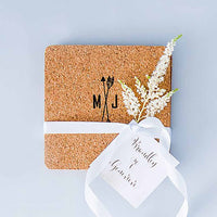 Square Cork Coasters Pack of 25-Favors-Coasters-Here Comes The Bling™