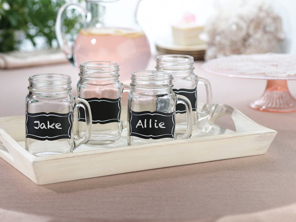 St of 20 Chalkboard Glass Clings-Stationery-Labels-Here Comes The Bling™