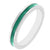 Stackable Enamel Eternity Ring in Green