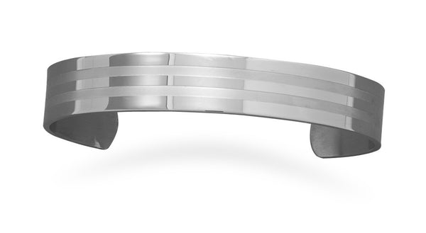 Stainless Steel Men's Cuff Bracelet-Mens-Bracelets-Here Comes The Bling™