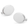 Stainless Steel Oval Engravable Cufflinks-Cufflinks-Here Comes The Bling™
