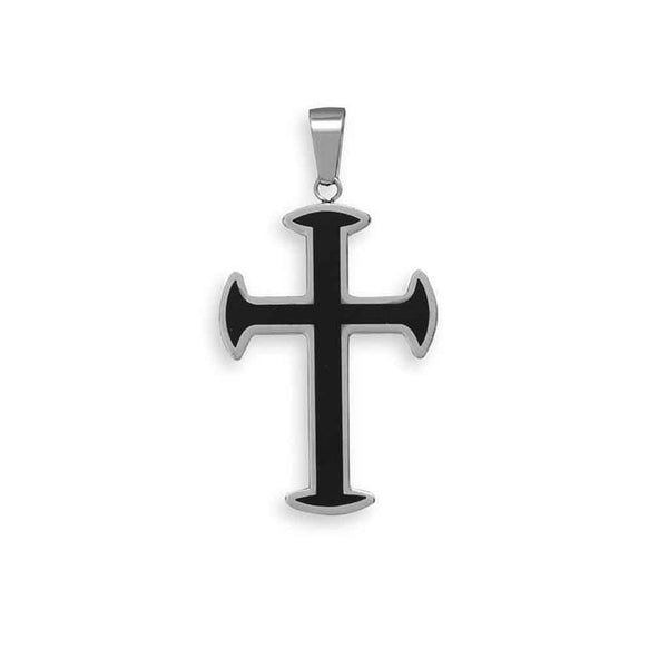 Stainless Steel Resin Inlay Cross Pendant-Mens-Necklaces-Here Comes The Bling™