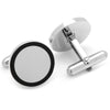 Stainless Steel Round Engravable Framed Cufflinks-Cufflinks-Here Comes The Bling™