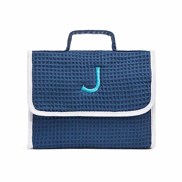 Stand Up Waffle Cosmetic Bag in Slate Blue-Pouch-Here Comes The Bling™