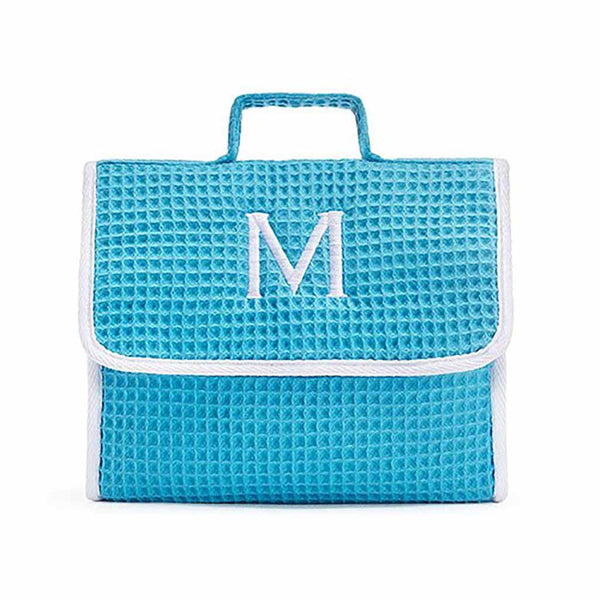 Stand Up Waffle Cosmetic Bag in Turquoise-Pouch-Here Comes The Bling™