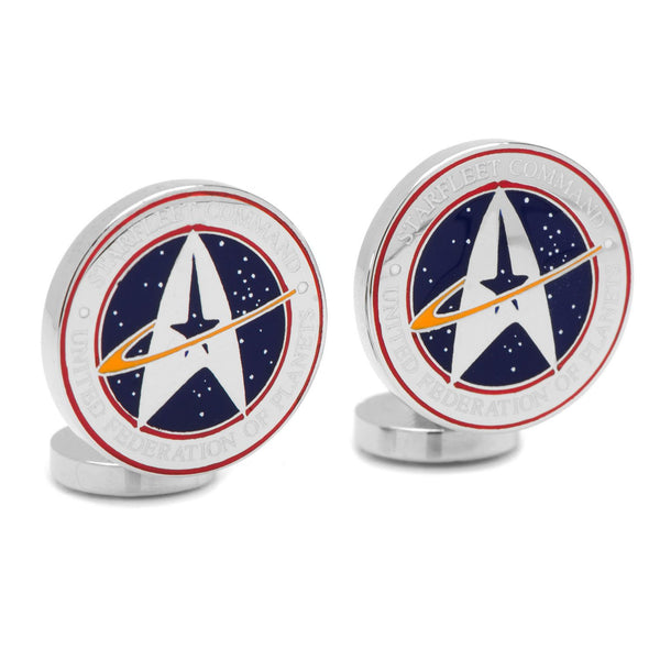 Star Trek Starfleet Command Cufflinks-Cufflinks-Here Comes The Bling™