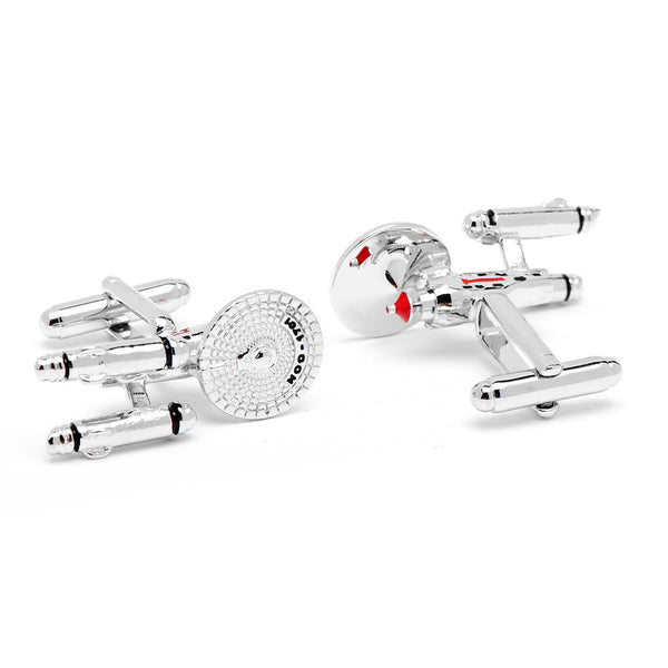 Star Trek Starship Enterprise Cufflinks-Cufflinks-Here Comes The Bling™
