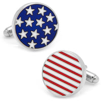 Stars and Stripes American Flag Cufflinks-Cufflinks-Here Comes The Bling‰̣ۡå¢