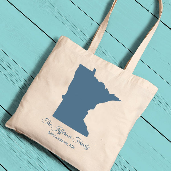 State Canvas Tote-Tote Bags-Here Comes The Bling™