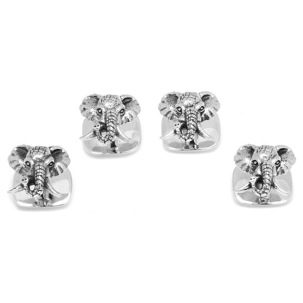 Sterling Elephant Head Studs-Tux Stud Set-Here Comes The Bling™
