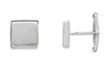 Sterling Silver Square Cuff Links-Cufflinks-Here Comes The Bling™