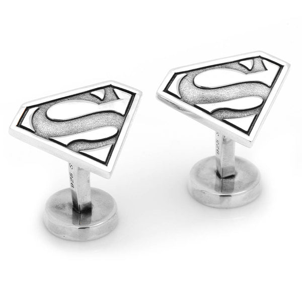 Sterling Superman Cufflinks-Cufflinks-Here Comes The Bling™