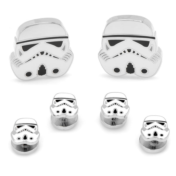 Storm Trooper Head Stud Set-Tux Stud Set-Here Comes The Bling™