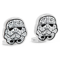 Storm Trooper Typography Cufflinks-Cufflinks-Here Comes The Bling™