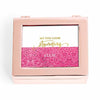 """Stunning"" Fuchsia Glitter Personalized Jewelry Box (Available in 3 Colors)-Jewelry Box-Here Comes The Bling™"