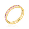 Stylish Stackables Gold and Pink Eternity Ring-Rings-Here Comes The Bling™