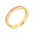 Stylish Stackables Gold and Pink Eternity Ring