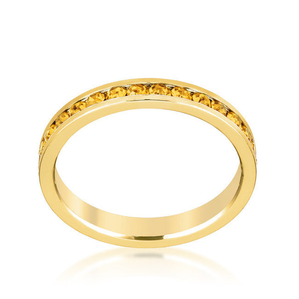 Stylish Stackables Gold and Yellow Crystal Eternity Ring-Rings-Here Comes The Bling™